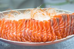 Sushi,japanese food on dish prepare for party,asia culture tradi Stock Images