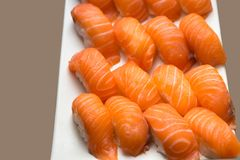 Sushi,japanese food on dish prepare for party,asia culture tradi Stock Image