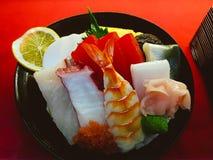 Sushi japanese food fish wasabi lemon. Sushi japanese food fish wasabi tasty plate Stock Photos