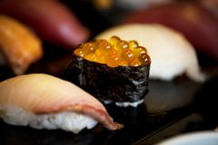 Sushi Japanese food healthy eating Royalty Free Stock Images