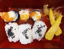 Sushi is a Japanese food. Stock Image