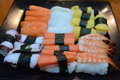 Sushi Japanese food in Resturant Royalty Free Stock Image