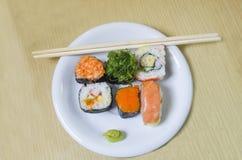 Sushi japanese food. Roll, rice Stock Photos