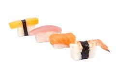 Sushi japanese food, salmon fish on rice Royalty Free Stock Images