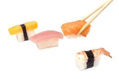 Sushi japanese food, salmon fish on rice Stock Images