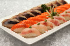Sushi japanese food too popular Stock Photography