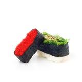 Sushi Japanese food on white background. Sushi food on white background Royalty Free Stock Photos