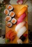 Sushi in japanese restaraunt Stock Images