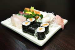 Sushi - Japanese Seafood Royalty Free Stock Photography