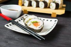 Sushi, Japanese seafood Royalty Free Stock Photos