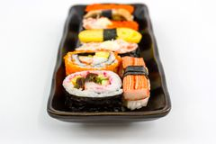 Sushi,Japanese sushi traditional food. Stock Image