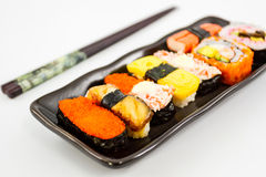 Sushi,Japanese sushi traditional food. Royalty Free Stock Photography