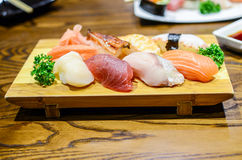 Sushi, japanisches Lebensmittel stockfoto