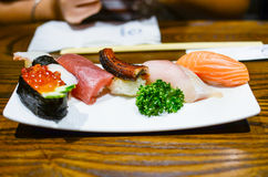 Sushi, japanisches Lebensmittel stockbild