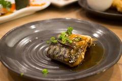Sushi japonés de la mezcla de la comida Foto de archivo libre de regalías