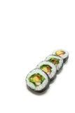 Sushi japonés del rollo de la ensalada en el #2 blanco imágenes de archivo libres de regalías
