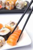 Sushi japonés tradicional del alimento Foto de archivo
