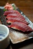 Sushi japonês e causa do atum da culinária Foto de Stock Royalty Free
