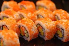 Sushi japonês Rolls imagens de stock royalty free