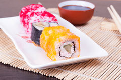 Sushi japonais de fruits de mer Photos stock