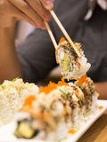 Sushi japonais Rolls Images stock