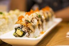 Sushi japonais Rolls Photos stock