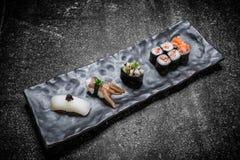 Sushi japonais Rolls Photographie stock libre de droits