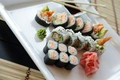 Sushi japonés Imagen de archivo libre de regalías