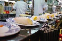 Sushi Kaiten Fotografering för Bildbyråer