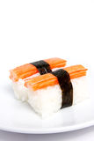 Sushi Kani on the plate Royalty Free Stock Image