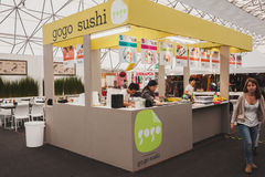 Sushi kiosk at Orient Festival in Milan, Italy Stock Photography