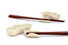 Sushi kit. Elegant sushi set for two persons on white background Stock Photos