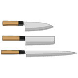 Sushi knives Royalty Free Stock Photo
