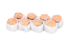 Sushi Lava. Isolated on a white background Royalty Free Stock Photography