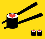 Sushi Logo Concept Stock Afbeelding