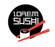 Sushi Logo Concept Fotografia de Stock Royalty Free