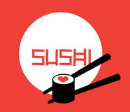 Sushi Logo Concept Stock Fotografie