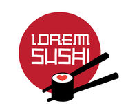Sushi Logo Concept. Design. AI 8 Supported Royalty Free Stock Photos