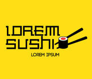 Sushi Logo Concept. Design. AI 8 Supported Royalty Free Stock Image