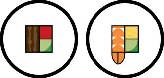 Sushi Logo Design Set Stock Image