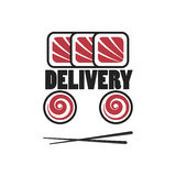 Sushi logo template Royalty Free Stock Photo