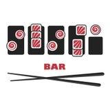 Sushi logo template Royalty Free Stock Photos