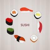 Sushi logo. Vector image of sushi logo Royalty Free Stock Photography