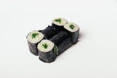 Sushi lokalisiert auf Weiß Stockfoto