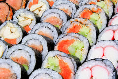 Sushi looks yummy are arranged Royalty Free Stock Photo