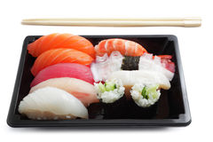 Sushi lunch box Royalty Free Stock Images