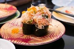Sushi mélangés de fruits de mer photo stock