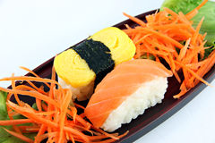Sushi made ​​from Fish and eggs. Stock Images