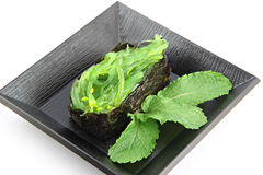Sushi made from nori on dish. Stock Photography