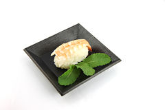 Sushi made from Shrimp meat. Royalty Free Stock Image